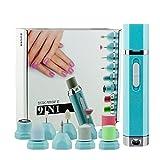 9 In 1 Elektrische Maniküre Pediküre Werkzeuge Präzisions Nagelfeile für die Nagelpflege Nagelfeile, 9 Einsätze zur Hand- und Fuß-Pflege, zum Kürzen, Feilen, Formen und Polieren der Nägel