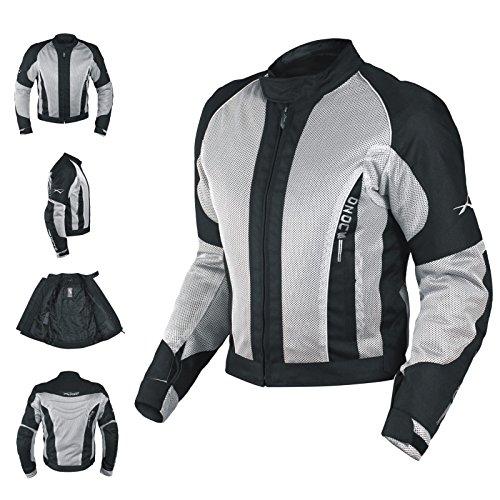 A-Pro Textiljacke Atmungsaktiv Mesh Durchloechert Motorrad Protektoren Grau XXL (Motorrad-jacke Mesh-tech)