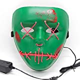 JRKJ Glowing mask Creepy & Funny Masks - Perfect for Carnival & Halloween - Adult Costume Unisex one for All@3