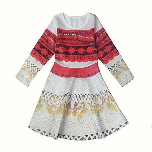 Prinzessin Moana Langarm-Kostüm, Party-Kostüm für Mädchen Kleinkind Kinder Party ()