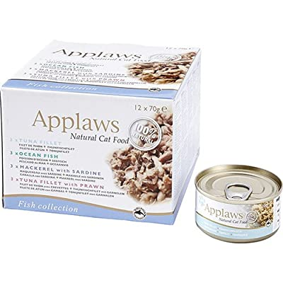 Applaws Cat Food Multipack Broth Fish Selection Tin 12 x 70 g