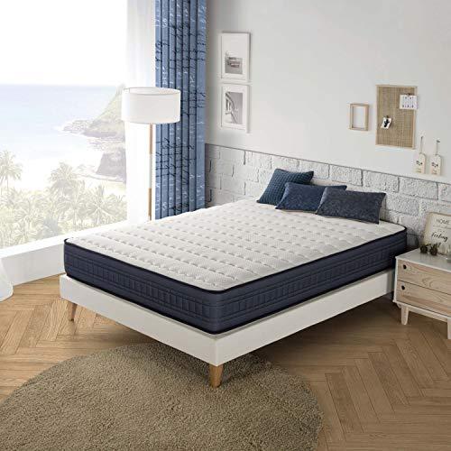 Marckonfort Imperial Memory Foam Matratze 140X200, 25 cm hoch mit 1 cm Memory Gel von 65 kg / m3 + Unabhängigkeit vom Bett + Festigkeit: Mittel + Extrem langlebig
