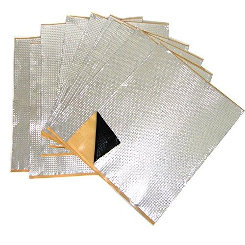 Über Tür-Übung (2m² ALUBUTYL Dämmplatten 500x400 mm Anti Dröhn Matte Bitumen-Ersatz PKW Tür HIFI)