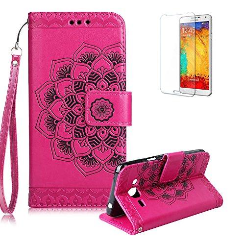 Gurt Lederhülle für Samsung Galaxy J320 2016,Flip PU Leder Brieftasche für Samsung Galaxy J320...