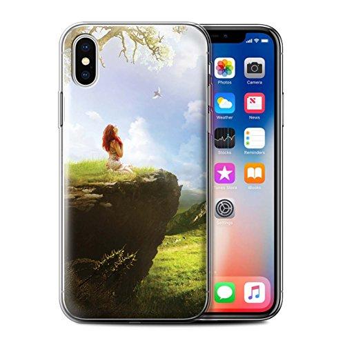 Offiziell Elena Dudina Hülle / Gel TPU Case für Apple iPhone X/10 / Pack 17pcs Muster / Fantasie Landschaft Kollektion Grünes Feld