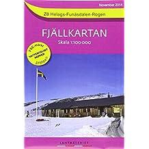 Fjällkartan 1 : 100 000 Z8 Helags - Funäsdalen - Rogen Bergwanderkarte