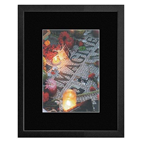 John Lennon–Strawberry Fields Memorial New York 's Central Park 2009gerahmtes Mini Poster–33x 28cm (Strawberry Fields Memorial)