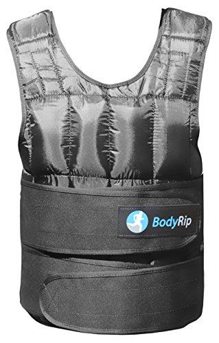 BodyRip Training und Workout Booster Gewicht Fitness Weste, Unisex, Training and Workout Booster, Schwarz