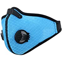 VORCOOL Máscaras a Prueba de Polvo, Máscara de Polvo de Carbón Activado Máscara de Deporte para Entrenamiento Correr Ciclismo Actividades al Aire Libre (Azul)