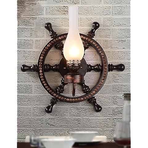 YUPX Lampadario Montaggio del flusso - Retrò - DI Legno/bambù - Stile Mini , 220-240v-brown lampadari Lampada sospensione da soffitto