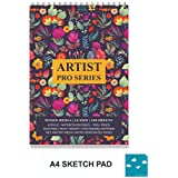 Paper Plane Design Wire Bound Artists Sketch Drawing Book, A4 Size, 100 Pages, 180 GSM
