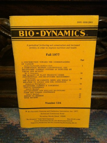 Bio-Dynamics Number 124, Fall 1977: A Periodical Furthering Soil Conservation and Increased Fertility In Order to Improve Nutrition and Health