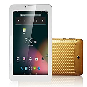 "JINYJIA 7"" Zoll Android Tablet PC Google 4.2 Jelly Bean 2G GSM SIM Handy Anruf Phablet 4GB Dual Core Kamera Bluetooth GPS Kapazitiver TFT LCD Touchscreen WiFi (Golden)"