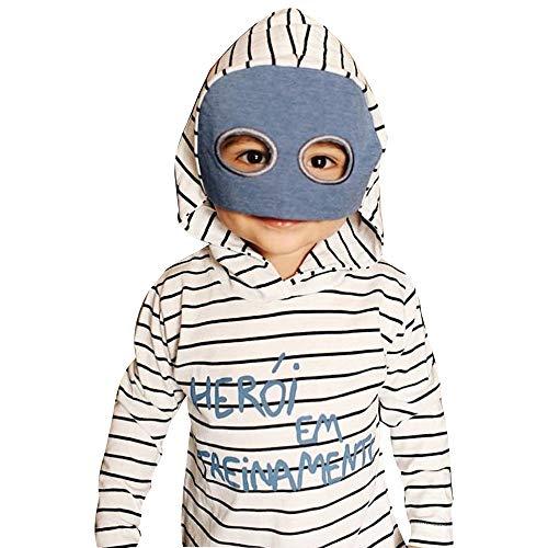 Oyedens Kinder Striped Hoodie Long Sleeve Masked Hero Kinderbabykleidung gestreift mit Kapuze Brief Sweatshirts Cosplay Tops Outfits ()