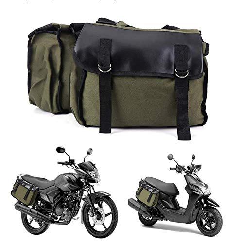 Baedivg Motorrad Canvas Satteltaschen Equine Back Pack Gepäck Werkzeugtasche, Für 150ccm Roller