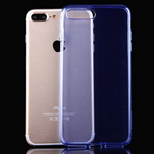 Hülle für iPhone 7 plus , Schutzhülle Für iPhone 7 Plus weichen transparenten TPU Schutzhülle ,hülle für iPhone 7 plus , case for iphone 7 plus ( Color : Pink ) Blue