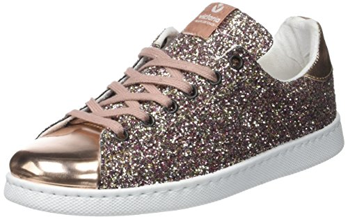 Victoria Deportivo Glitter, Baskets Basses Mixte Adulte, Rose (Rosa), 37 EU