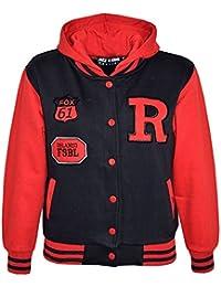 A2Z 4 Kids Enfants Filles Garçons R Fashion Fox Baseball Encapuchonné Veste  Varsity Sweat À Capuche ed97a714fa48