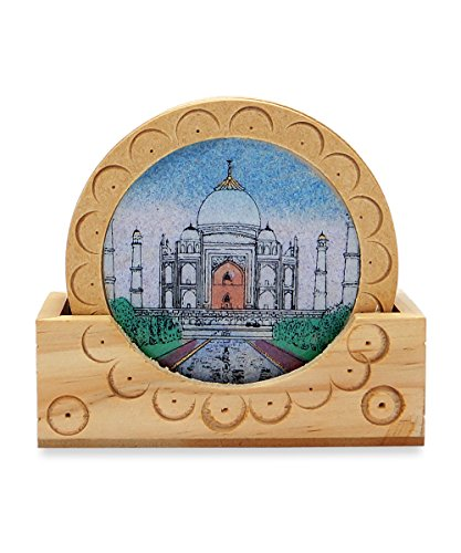 set-of-6-round-taj-mahal-painting-bamboo-coasters-for-tea-coffee-cups-mugs-beverages-glass-drink-mat