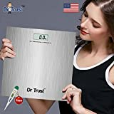 Dr. Trust (USA) High Accuracy PLATINUM Digital Bathroom Weighing Scale (180 KGS) with 'Accu Gauge' and 'Smart Insta-Step' Technology Weight Machine and Dr Trust Digital thermometer free