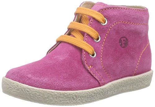 NaturinoFALCOTTO 1195 - Sneaker per neonati Bimba 0-24 , Rosa (Pink (VELOUR FUXIA CUC.+LACCIO ARANCIO)), 21