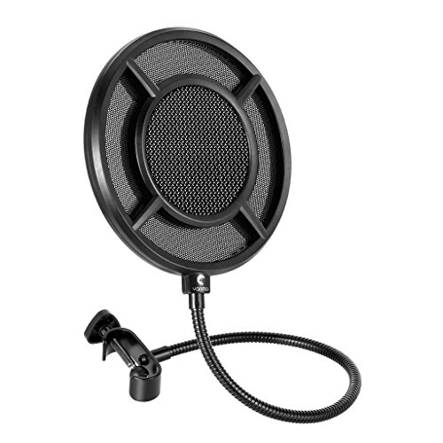 VvXx Dual Layer Metal Grill Microphone Filter Anti-Spray Net Live Sing Recording