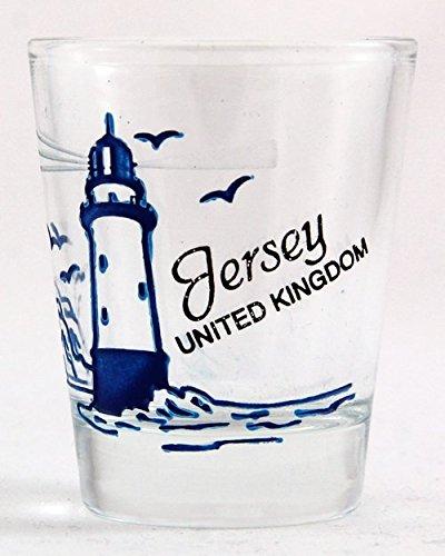 Jersey Royaume-Uni en verre à Shot en forme de phare (Jersey Glas Shot)