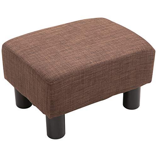Homcom Sitzsack, gepolstert, aus Massivholz, Braun 40 x 30 x 24 cm