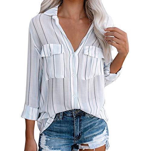 Heetey Tshirts Damen, Damen Langarm Baumwolle Leinen Kaftan Damen Baggy Bluse T-Shirt Tops Casual Pullover Oberteile Tshirt Sweatshirt S-5XL (Junioren Neon-kleider)