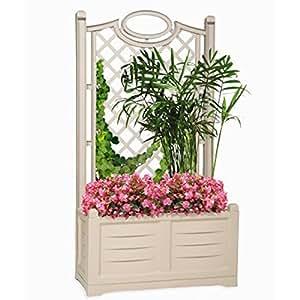 bama bac fleurs avec treillage beige jardin. Black Bedroom Furniture Sets. Home Design Ideas