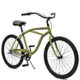 Critical Cycles Herren Chatham Men's Three Speed Beach Cruiser, Matte Military Green, One Size