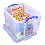 Really Useful Storage Box 35 Litre Clear Ref 35C