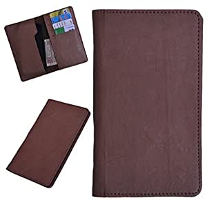 DCR Pu Leather case cover for Motorola Moto E Dual SIM (2nd gen) (brown)