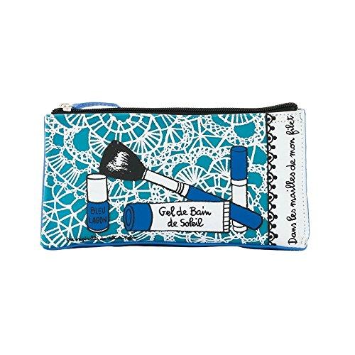 DERRIERE LA PORTE - Trousse maquillage Lagon bleu DLP -