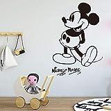 hetingyue Grand Dessin animé Souris Sticker Mural Enfant Chambre d'enfant Dessin animé Souris Anime Vinyle Sticker 100x68cm