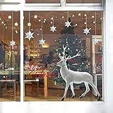 Saingace Weihnachtssticker,Weihnachten Deer entfernbarer Wand-Aufkleber Art Home-Dekor-Abziehbild