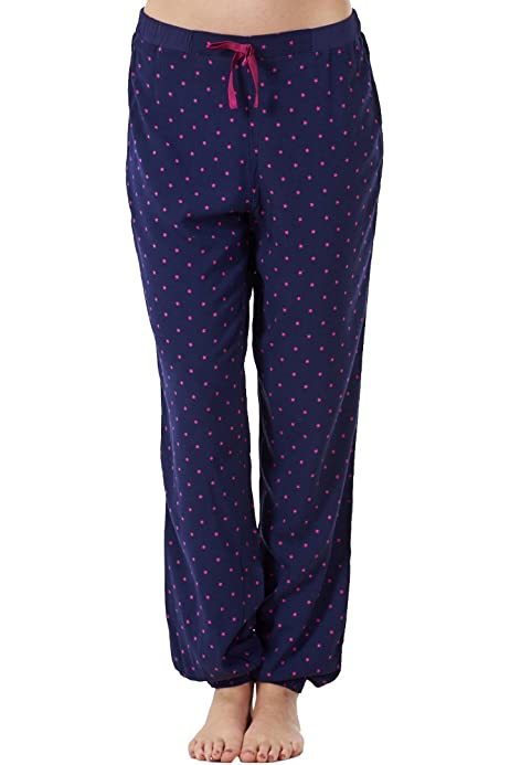 Ex Famous Store Ladies Pyjama Elasticated Bottoms Navy Loungewear Womens Pants PJs