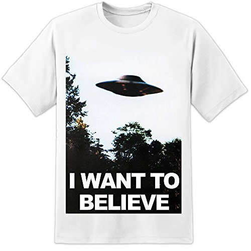 DIGITAL PHARAOH Mens X Files Fox Mulder Office Poster I Want To Believe - White