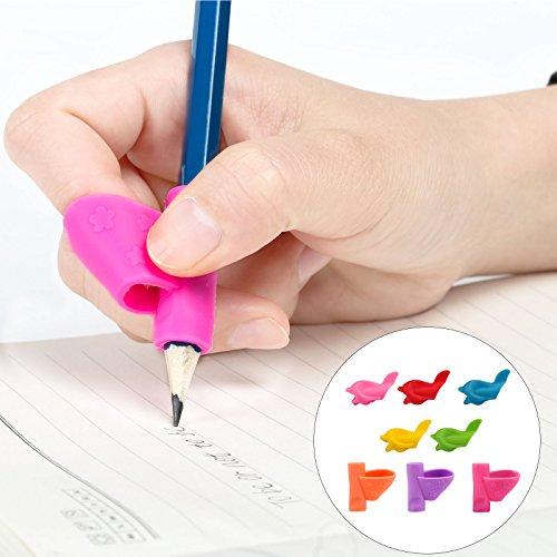 Kesote 8 Stück Bleistiftgriffe Ergonomische Schreibhilfe Grip für Kinder Rechtshänder Haltungskorrektur, 2 Formen