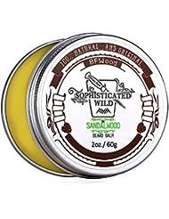 BFWood Baume Barbe Parfumé Bois de Santal Homme 60g –Discipline, Hydrate et Revitalise Votre Barbe