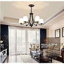 Maniny 6 Kopf Wohnzimmer Kronleuchter Europische Landhaus Stil Schlafzimmer Deckenleuchte Natrliche Idylle Einfache Restaurant Hngelampe Moderne