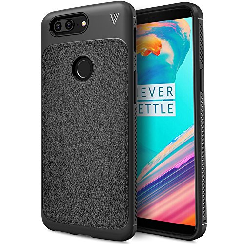 OnePlus 5T Case, KuGi [Hexagon Lines] TPU Leather Ultra Slim Back Case, Shock Absorbing Bumper Protective Case Cover for OnePlus 5T Smartphone (Black)