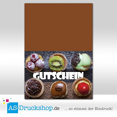 Gutschein Bäckerei Cupcake-Party / 100 Stück / DIN A6