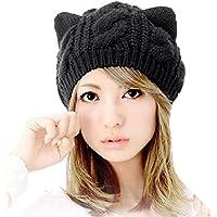 Tongshi Orejas de gato cáñamo Flores punto Hat
