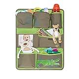 Lässig Car Wrap-to-Go Auto-Utensilientasche Autorücksitzorganizer/Rücksitztasche für Auto oder Kinderzimmer zum Hängen, Crocodile granny