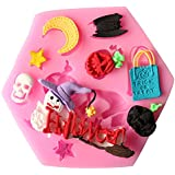 Outgeek Fondant Mold DIY Multi Purpose Silicone Cake Mold Handmade Cookie Mold For Making Halloween Pastry