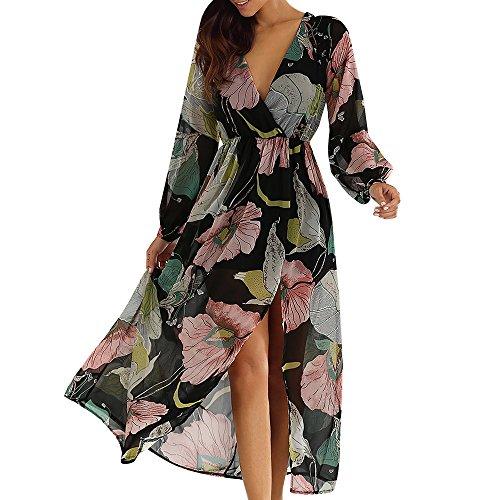 CharMma Damen Wickel Kleid Blumenmuster