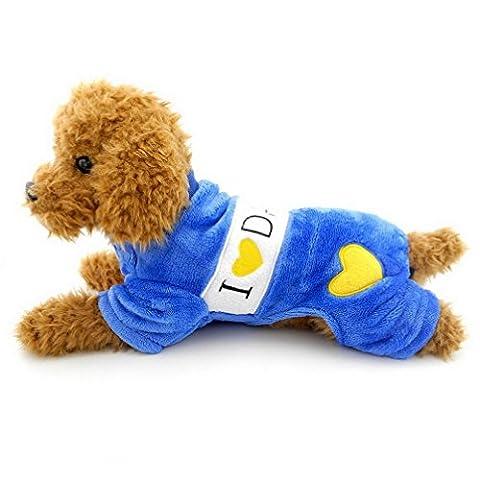 Ranphy Petit Chien Vêtements pour filles garçons Confort I Love Dadoy Mommy Cœur Imprimé chien Ange