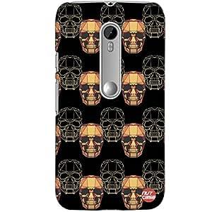Designer Motorola Moto G3 Case Cover Nutcase -Techno Skulls