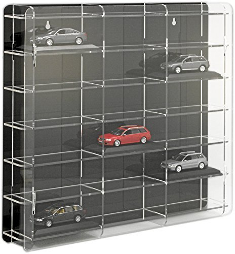 SORA vitrine de voitures 1/43 Modèle avec panneau arrière noir
